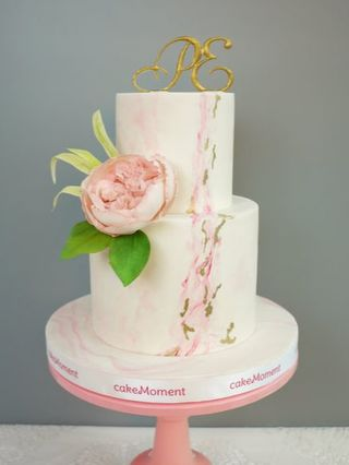 grey marble wedding cake hk
