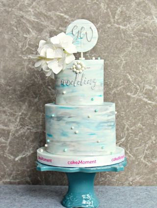hand painting garden wedding cake hk