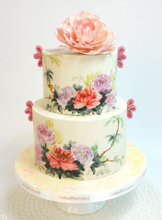 chinoiserie wedding cake hk