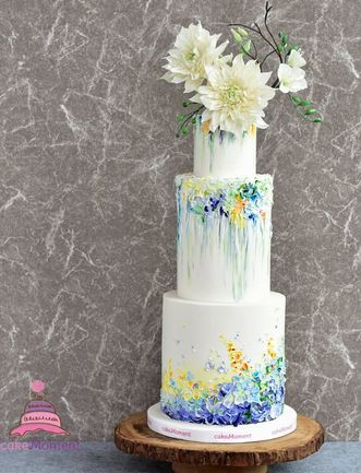 Contemporary Oil Painting wedding cake hk
