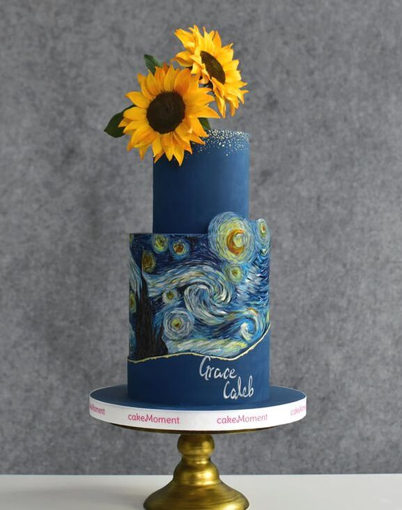 galaxy wedding cake hk